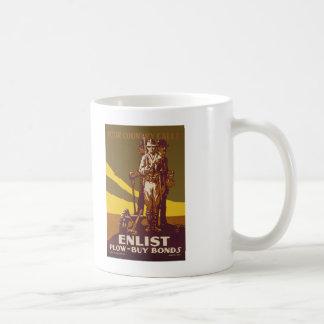 US War Bonds Your Country Calls WWI Propaganda Classic White Coffee Mug