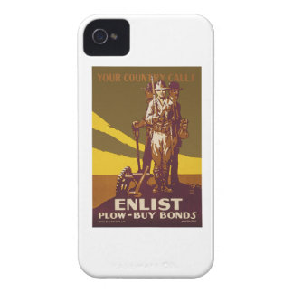 US War Bonds Your Country Calls WWI Propaganda iPhone 4 Cover