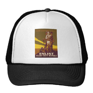 US War Bonds Your Country Calls WWI Propaganda Trucker Hat