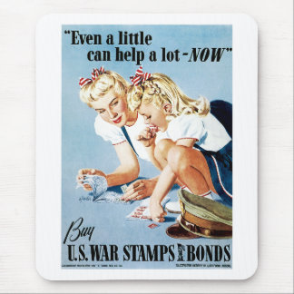 US War Stamps and Bonds Mouse Pad