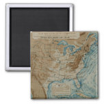 US Weather Map 2 Inch Square Magnet