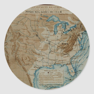 US Weather Map Classic Round Sticker