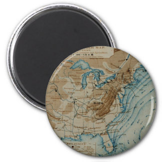 US Weather Map 2 Inch Round Magnet
