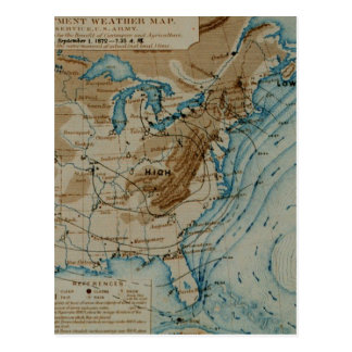 US Weather Map Postcard