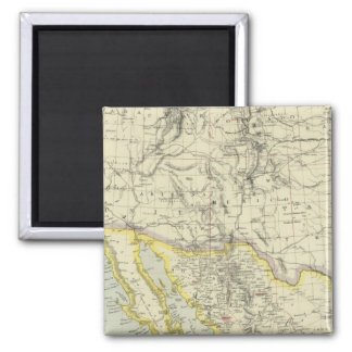 US West, Mexico North 2 Inch Square Magnet