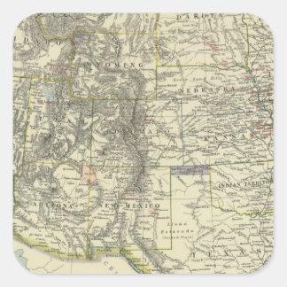 US Western Square Sticker