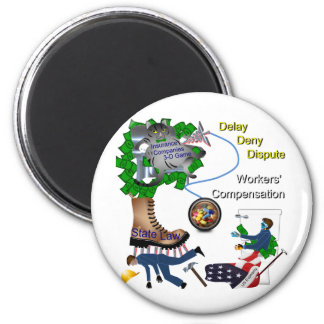 US Workers Compensation  3-D Game 2 Inch Round Magnet
