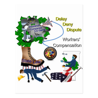 US Workers' Compensation 3-D Game Postcard