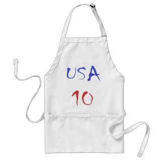 Usa 10 Cool Design! Special design for sports fan! Adult Apron