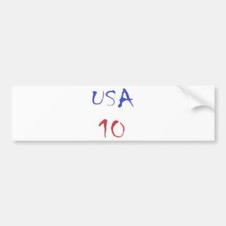 Usa 10 Cool Design! Special design for sports fan! Bumper Sticker