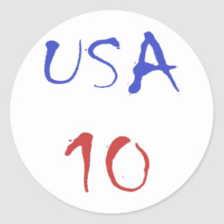 Usa 10 Cool Design! Special design for sports fan! Classic Round Sticker