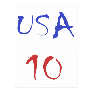 Usa 10 Cool Design! Special design for sports fan! Postcard