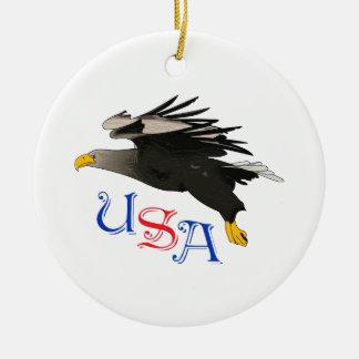 USA BALD EAGLE CHRISTMAS ORNAMENT