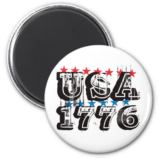 USA 1776 - Color 2 Inch Round Magnet