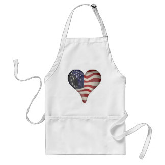 USA 1776 Flag In A Heart Apron