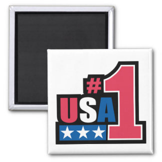USA #1 2 INCH SQUARE MAGNET