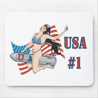 USA 1 Bombshell Mouse Pads