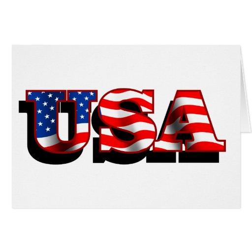 USA 1 Greeting Cards