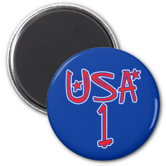 USA 1 !  USA number one! 2 Inch Round Magnet