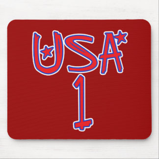USA 1 !  USA number one! Mouse Pad