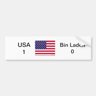 USA 1 vs Bin Laden 0 Car Bumper Sticker