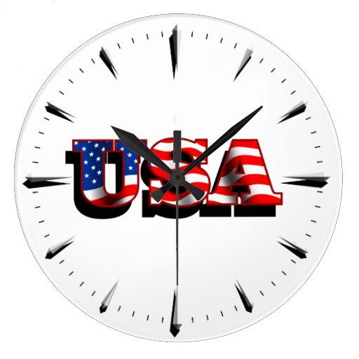 USA 1 Wall Clock