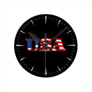 USA 1 Wall Clock (Dark)