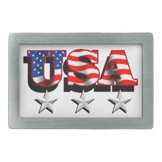 USA 1 with Stars Belt Buckle
