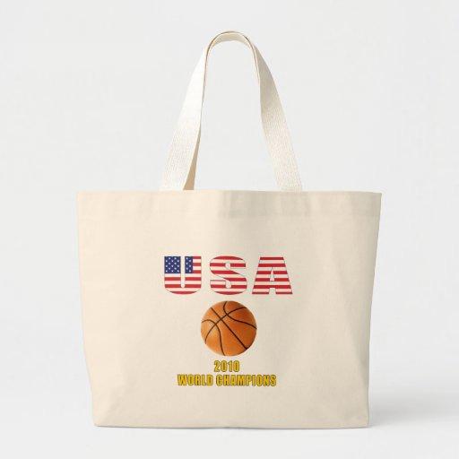USA 2010 Basketball Champions Large Tote Bag