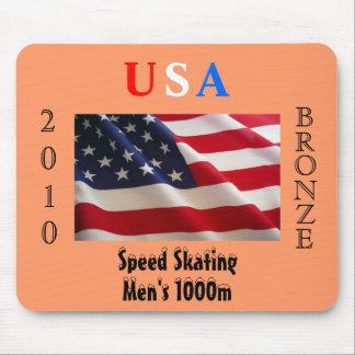 USA 2010 Bronze (Speed Skating) Mouse Pads