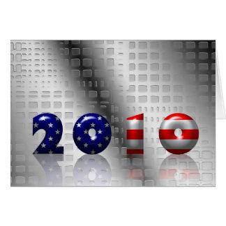 USA 2010 celebration Greeting Card