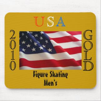 USA 2010 Gold (Figure Skating) Mousepads