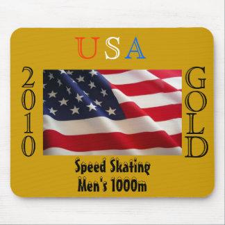 USA 2010 Gold (Speed Skating) Mousepad