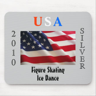 USA 2010 Silver (Figure Skating) Mouse Pads