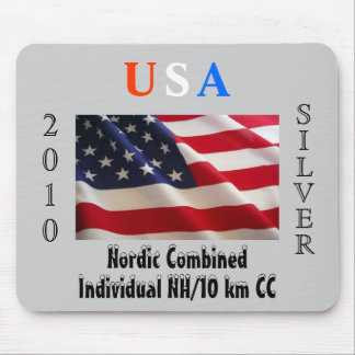 USA 2010 Silver - Nordic Combined Mouse Pad