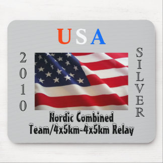 USA 2010 Silver (Nordic Combined) Mousepads