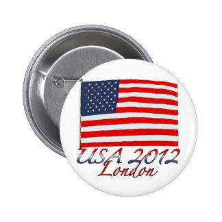 Usa 2012 london pinback button