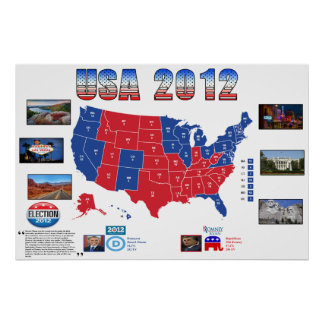 USA 2012 Presidential Election Poster