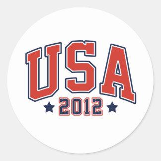 USA 2012 Team USA Games Classic Round Sticker