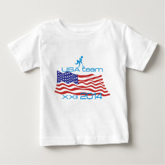 USA 2014 Winter Sports Curling Baby T-Shirt