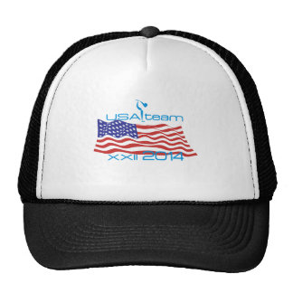 USA 2014 Winter Sports Ice Skating Trucker Hat