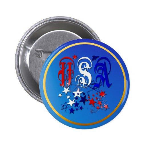 USA-2 con el botón de las estrellas Pin