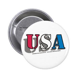 USA 2 PINBACK BUTTON