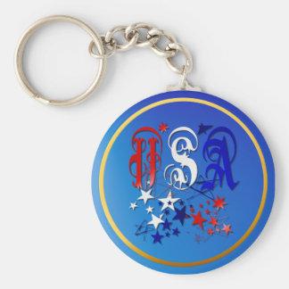 USA-2 with Stars Keychain