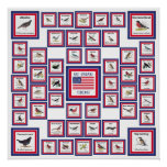 USA 50 STATE BIRDS WHITE/553 POSTERS