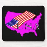 USA 8+Sterne+Streifen Mauspads