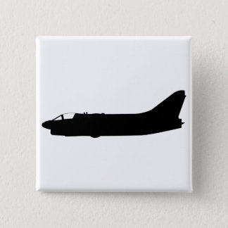 USA A7 Corsair Silhouette Pinback Button