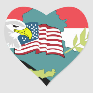 USA Air Force SSI 398th Air Expeditionary G Heart Sticker