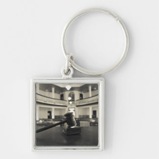 USA, Alabama, Monroeville. Home of writers Silver-Colored Square Keychain