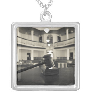 USA, Alabama, Monroeville. Home of writers Square Pendant Necklace